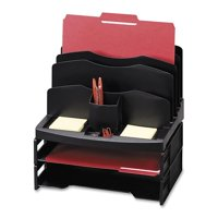 Sparco Smart Solutions Desk Organizer w/ Letter Tray