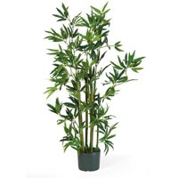 Nearly Natural 4-ft. Artificial Bamboo Silk Plant, Green