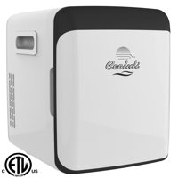 Cooluli Electric Mini Fridge Cooler and Warmer (15 Liter / 15 Can): AC/DC Portable Thermoelectric System (White)