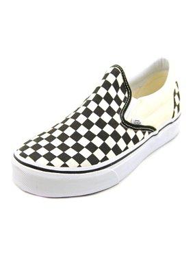 Vans Classic Slip-On Men  Round Toe Canvas Ivory Skate Shoe