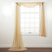 "Decotex Beautiful Elegant Solid Sheer Window Scarf Long Valance Topper (37"" X 216"", Hunter Green)"