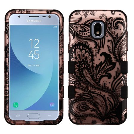 - TUFF Hybrid Series Phone Protector Cover Case and Atom Cloth for Samsung Galaxy Express Prime 3 (AT&T) - 2D Paisley Flowers