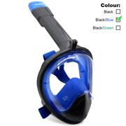 ROADWI NEW Full Face Snorkel Mask Easy Breath Panoramic 180 View with Anti Fog Anti Leak