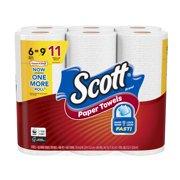 Scott Paper Towels, 6 Mega Rolls (11 Regular Rolls), Choose-A-Sheet