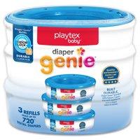 Playtex Baby Diaper Genie Diaper Disposal Pail System Refills, 3 Ct