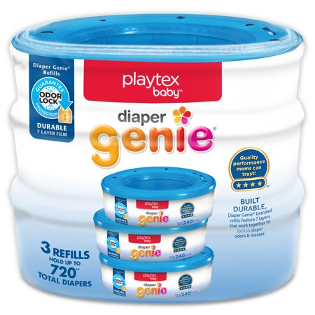 Playtex Baby Diaper Genie Diaper Disposal Pail System Refills, 3 (Best Babyganics Baby Diaper Pails)