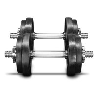 Yes4All 60 lb Adjustable Dumbbell Weight Set - Cast Iron Dumbbell (a Pair)