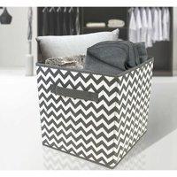 Sorbus Foldable Storage Cube Basket Bin, 6pk, Chevron Pattern