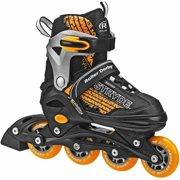 Stryde Boys' Adjustable Inline Skates, Black/Orange