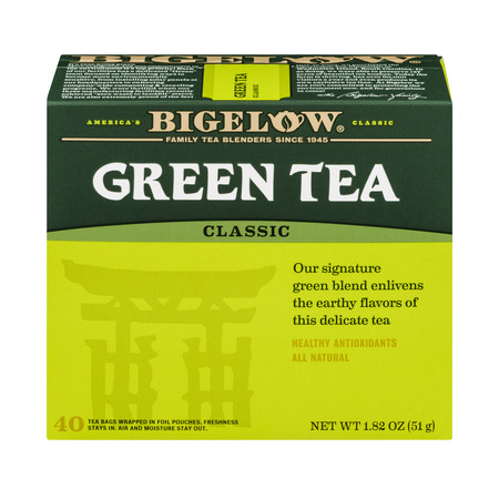 (4 Boxes) Bigelow Green Tea, Classic, Tea Bags, 40 Ct