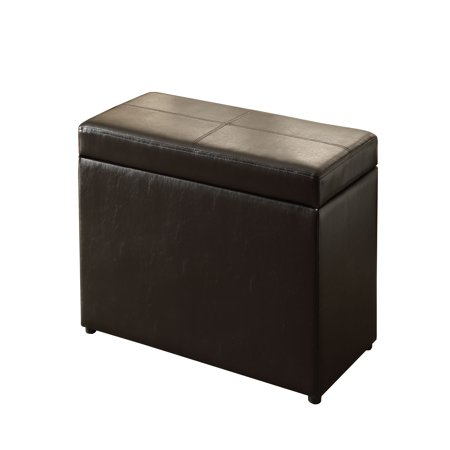 Better Homes Gardens 30 Inch Hinged Storage Ottoman Brown