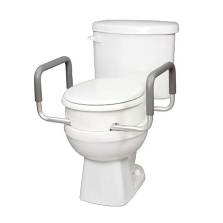 Carex Raised Toilet Seat With Handles For Standard Round