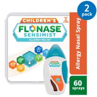 (2 pack) Flonase Children's Sensimist 24hr Allergy Relief Nasal Spray, Gentle Mist, Scent-Free, 60 sprays