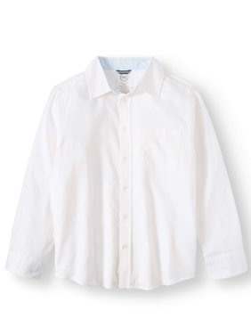 Long Sleeve Stretch Poplin Button Up Shirt (Little Boys, Big Boys, & Husky)