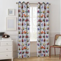 Mainstays Grommet Kids Room Darkening Transportation Single Curtain Panel