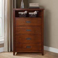 Better Homes & Gardens Maddox Crossing 4-Drawer Dresser, Warm Brown Finish