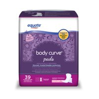 Equate Options Incontinence Pads for Women, Maximum, Long, 39 Ct