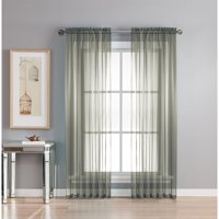 Diamond Sheer Voile Curtain Panels