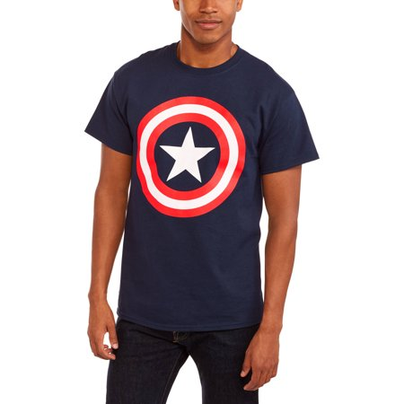 Super Heroes & Villains Marvel big men's shield logo graphic t-shirt, 2xl (Best Superhero Suits)