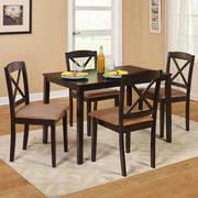 TMS Mason 5-Piece Cross Back Dining Set, Multiple Colors