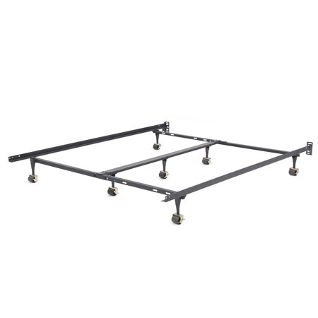 Modern Sleep Hercules Universal Heavy-Duty Adjustable Metal Bed Frame | Adjustable Width Fits Multiple Sizes (Adjustable Fins)