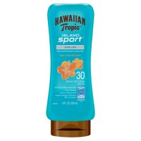 Hawaiian Tropic Island Sport Lotion Sunscreen SPF 30, 8 oz