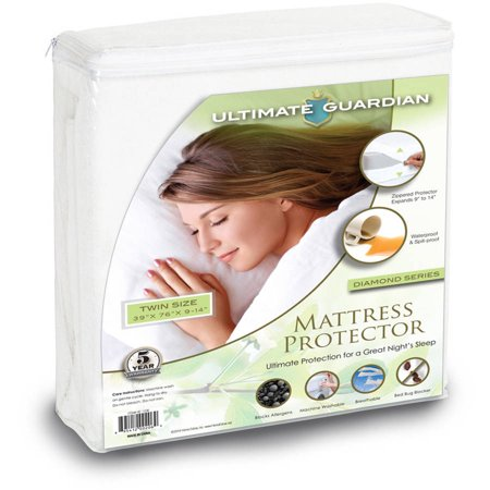 Plush Adobe Bed Cover (Ultimate Guardian, Lab Tested, 100 Percent Bed Bug Proof Mattress Protector )