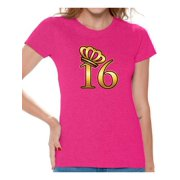Awkward Styles My Super Sweet Sixteen Shirt For Ladies Cute 16th Birthday Party Tee