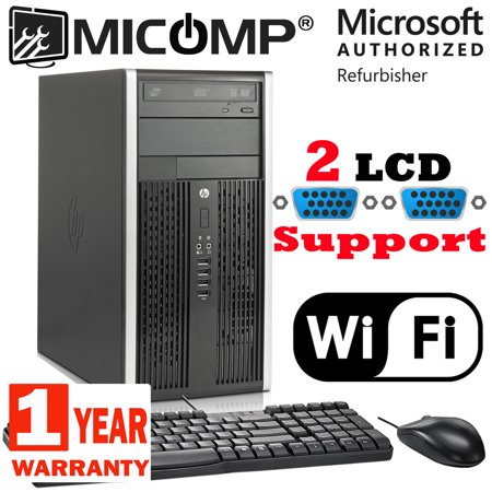 120 Gb Pc (Refurbished HP Elite 8200 Tower Computer PC i3 3.1Ghz 4GB 120GB SSD Windows 10 Professional WIFI, Dual LCD Ready 1 Year Warranty)