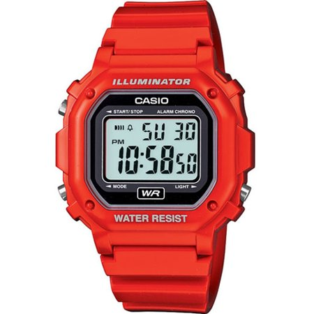 Casio Men's F-108WHC-4A Classic Red Resin Band