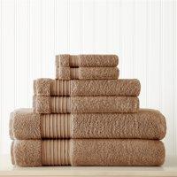 6 piece 100% Turkish Cotton Towel Set Mocha