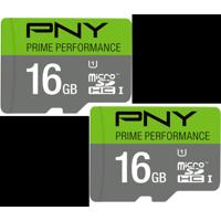 PNY 16GB Prime MicroSD 2pk
