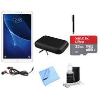 Samsung Galaxy Tab A 16GB High-Resolution 10.1-inch Tablet with 32GB MicroSDHC Memory Card & Accessories Bundle