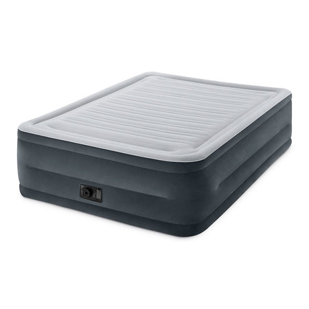 "Intex 22"" Queen Comfort Plush High Rise DuraBeam Air Mattress with Built-In Pump"