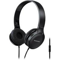 Panasonic RP-HF100M-K Panasonic Lightweight On-Ear Headphones With Microphone (Black)