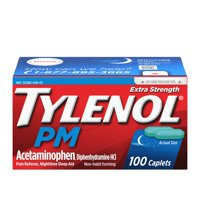 Tylenol PM Extra Strength Pain Reliever & Sleep Aid Caplets, 100 ct
