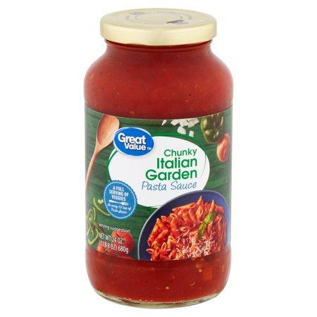 Great Value Chunky Italian Garden Pasta Sauce, 24 oz