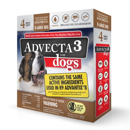 Advecta 3 Tick Flea And Mosquito Repellent And Treatment