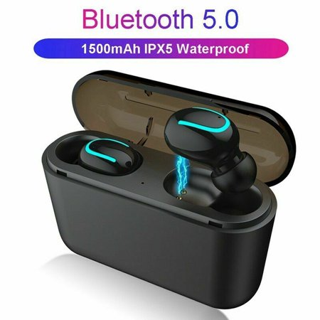 Tagital Mini Wireless Earbuds Bluetooth 5.0 Earpiece Headphones Headsets with Built-in Mic and Portable Charging Case for iPhone Samsung Smartphones