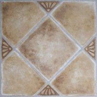 Achim Nexus Beige Clay Diamond with Accents 12x12 Self Adhesive Vinyl Floor Tile - 20 Tiles/20 sq. ft.