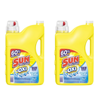 Sun Liquid Laundry Detergent plus OXI Stain Removers and Whiteners, Original Fresh, 188 Ounce, 117 Loads
