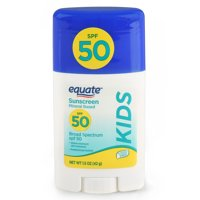 (3 pack) Equate Kids Mineral Based Sunscreen Stick, Broad Spectrum, SPF 50, 1.5 Oz