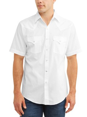 Men's Short Sleeve Solid Western Shirt