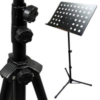 Adjustable Music Conductor Stand Folding Sheet Music Stand Metal Music Holder