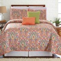 5 Piece Printed Reversible Quilt Set - Casanova