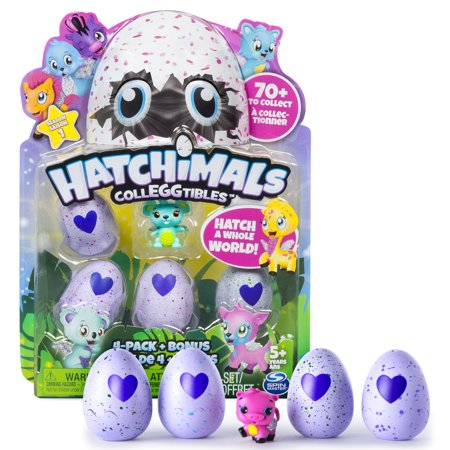 Hatchimals, CollEGGtibles, 4 Pack + Bonus (Styles & Colors May Vary) by Spin (Collectibles)