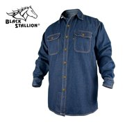 25a204d9aa70 REVCO BLACK STALLION FR FLAME RESISTANT DENIM WORK SHIRT - FS8-DNM XL