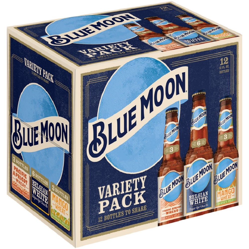 Blue Moon Sampler Ale,12 pack, 12 floz Bottles