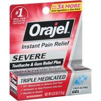 Orajel™ Severe Toothache & Gum Relief Plus Gel 0.25 oz. Box