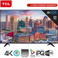 "TCL 65"" Class 5-Series Super-Slim 4K HDR Roku Smart TV 2018 Model (65S517) with 1 Year Extended Warranty"